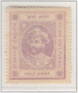 Indore 1/2 Anna Dull Mauve Thin Paper