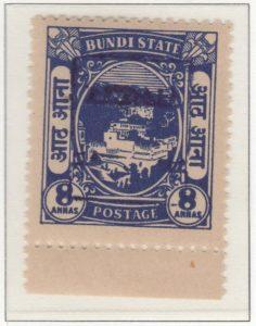 rajasthan-bundi-21-eight-annas-ultramarineoverprint-inverted